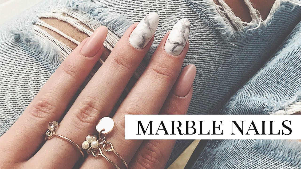 Marmurkowe Paznokcie Hybrydowe Krok Po Kroku Marble Nails
