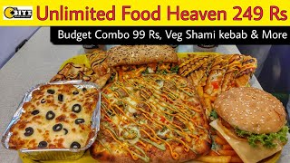 Unlimited Food Heaven Rs 249 || Twist Garlic Bread, Black Currant Shake & More