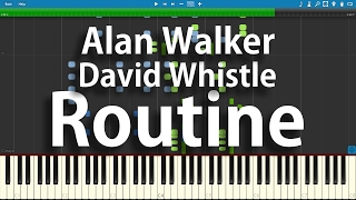 Alan Walker x David Whistle - Routine | Synthesia Piano Cover