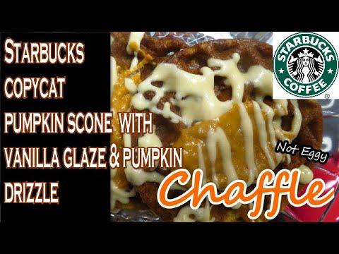 starbucks-copycat-pumpkin-scones-but-in-a-chaffle!-with-vanilla-glaze-&-pumpkin-drizzle-#chaffle