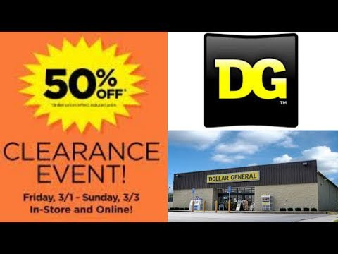 Dollar General 50% Off Clearance Event |  What Did I Find On Friday?
