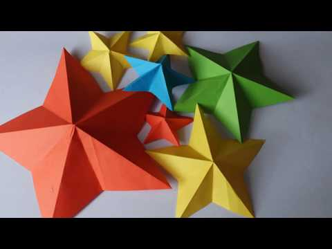 ORIGAMI EASY DIY STARS | How to make a 3D paper star | Tuto origami: étoile