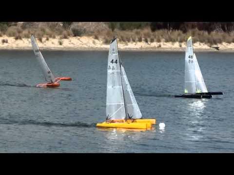 3 Mini40 RC trimarans in Perth