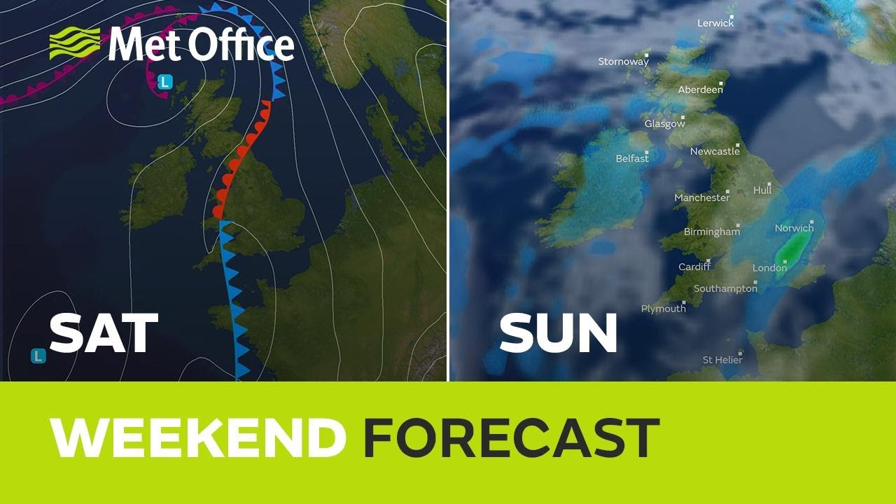 Weekend weather - Classic Spring mix, some sun & warmth & some downpours
