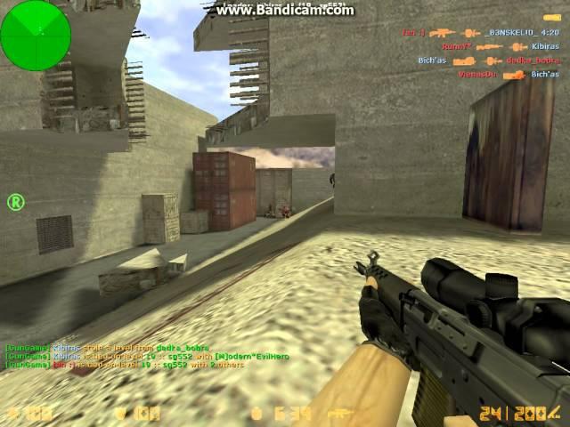 Counter strike 1.6 zaidziam gun game (2dalis)