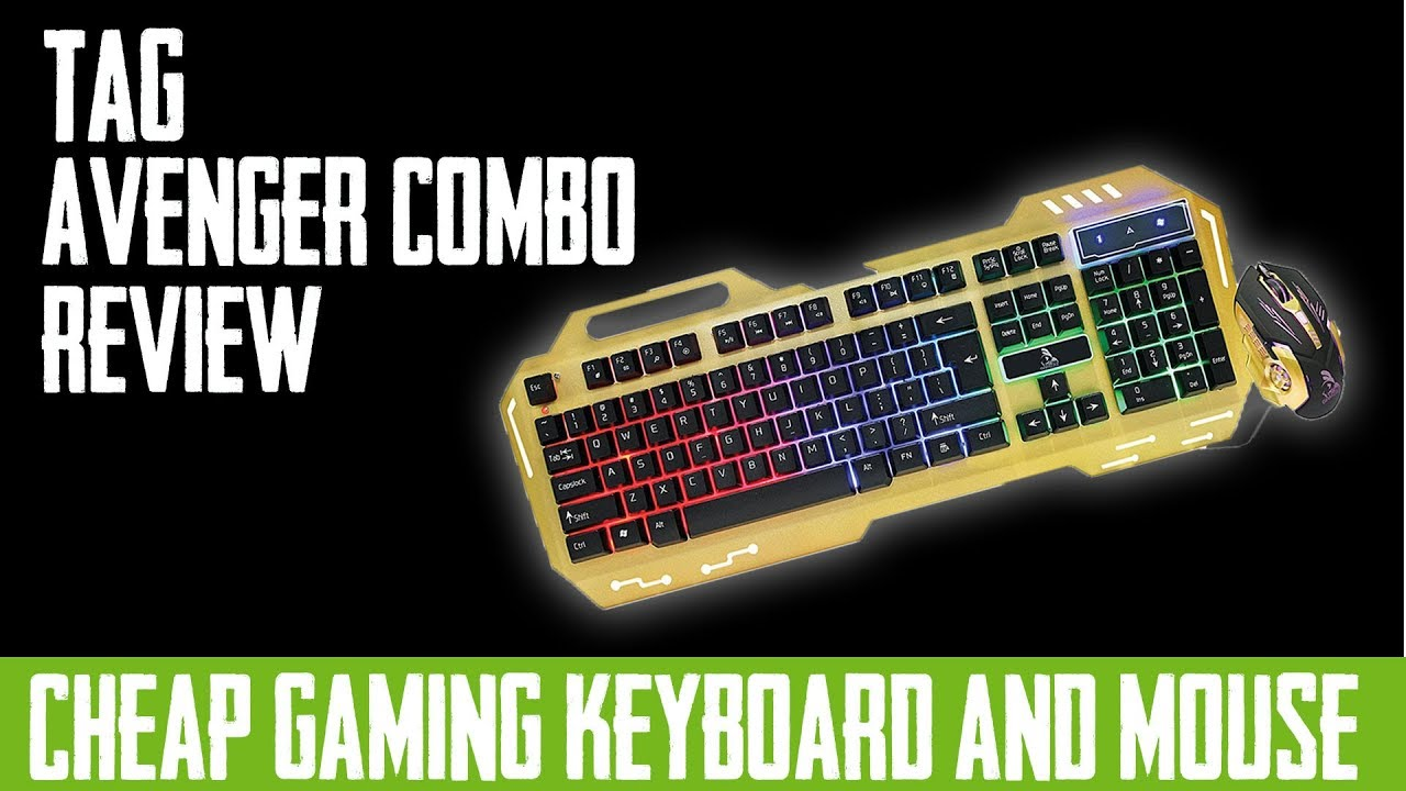 TAG Avenger Gaming Combo Review | Cheapest RGB Gaming Keyboard Mouse In  India