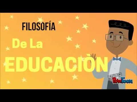Relación entre filosofía y educación - YouTube