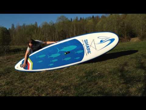 Обзор надувной SUP доски Shark 11' для SUP серфинга
