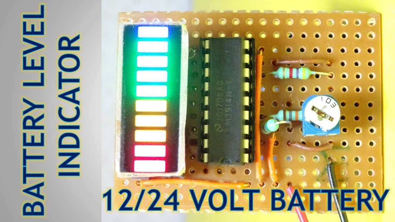 12 24 Volt Battery Level Charging Indicator Youtube Led Voltmeter Circuit Http Wwweleccircuitcom Simplevoltage Premium