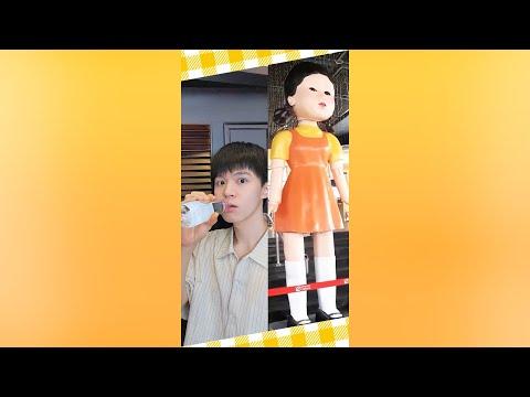 """123木頭人!小心千萬不要亂動...""""Green light, Red light"""" 【黃氏兄弟】#shorts #魷魚遊戲 #오징어게임"""