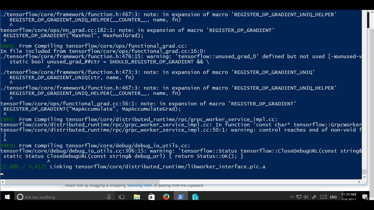 Build Tensorflow On Windows