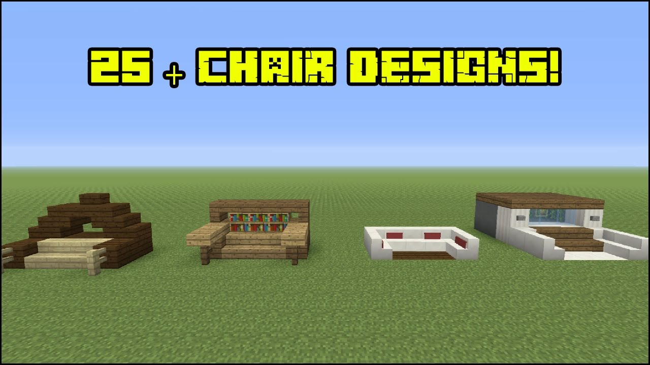 Minecraft Furniture - 25  Chair Designs