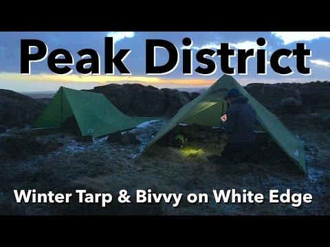 Peak District - Winter Tarp & Bivvy Wild Camp on White Edge