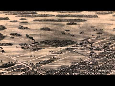 Terre Haute Indiana 1880 Panoramic Bird's Eye View Map 7210