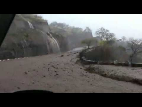 Devastating landslide and flood  in India, SHillong to Guwahati road,