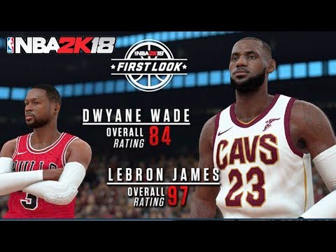 NBA 2K18 LeBron James and Historic Dwyane Wade Screenshot + Rating! Highest Rated in 2k!
