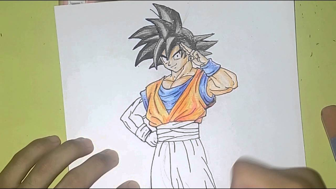 como desenhando goku normal dragon ball z youtube