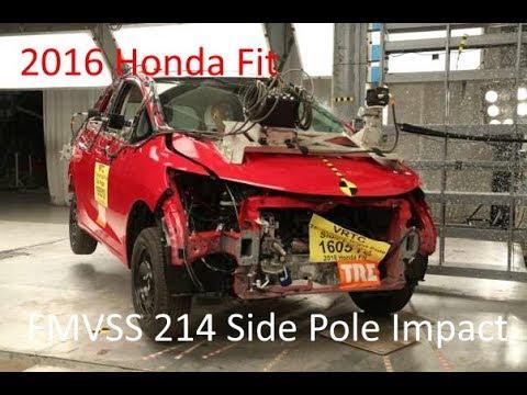 2015-2020 Honda Fit FMVSS 214P Side Pole Impact