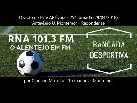 Antevisão U. Montemor - Redondense  Divisão de Elite AF Évora - 25ª Jornada (29/04/2018)