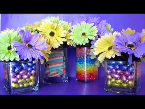 Sweet Easter Flower Vases Centerpiece Arrangements