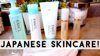 NEW JAPANESE SKINCARE! TRYING OUT UNIQUE FANCL PRODUCTS!