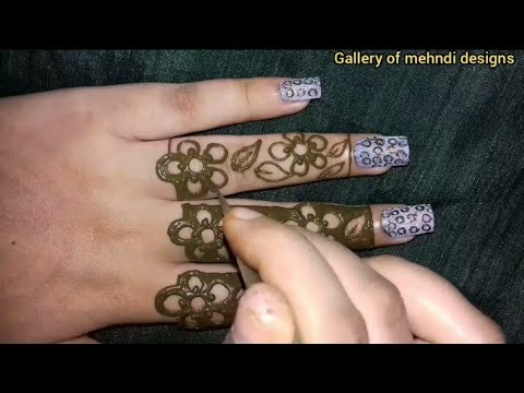 Arabic easy & simple floral mehndi design tutorial for beginners ll by Gallery of mehndi designs thumbnail