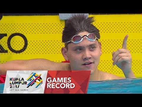 Swimming Men's 50m butterfly | Games record | 29th SEA Games 2017
