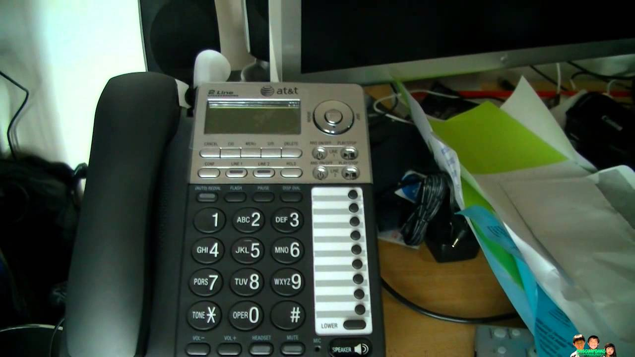 Test At T 2 Line Answering Phone System