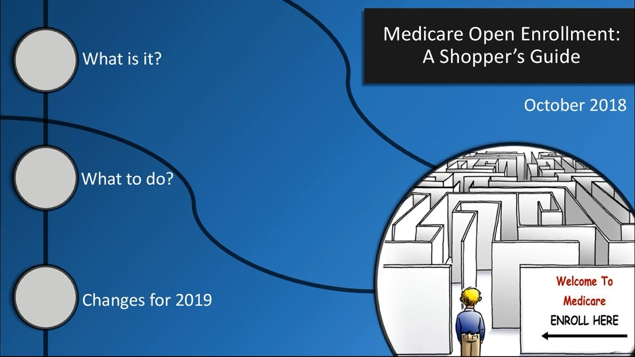 Medicare Open Enrollment: A Shopper's Guide - October 2018