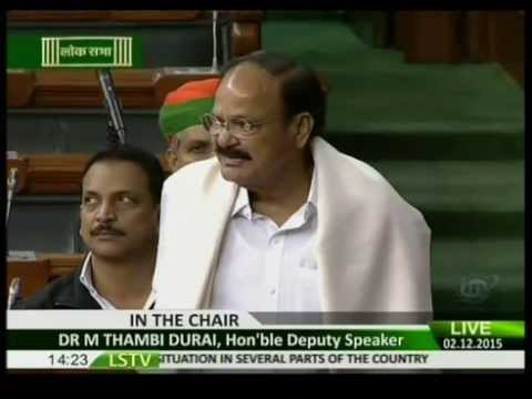 Shri M. Venkaiah Naidu in Lok Sabha on Flood & Drought situation in several parts of the country