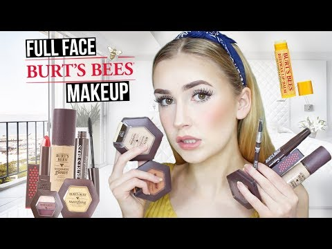 FULL FACE USING BURTS BEES Natural Makeup