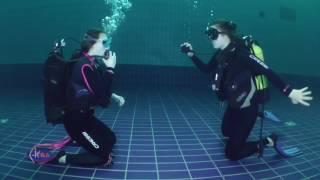 Обучение дайвингу в бассейне. Водолей. Николаев