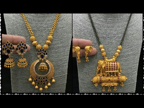 Latest 1 gm Gold jewelry with price || NEW ARRIVAL pendant Set design with price