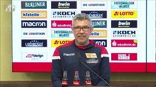 Pressekonferenz vor dem Spiel gegen Dynamo Dresden