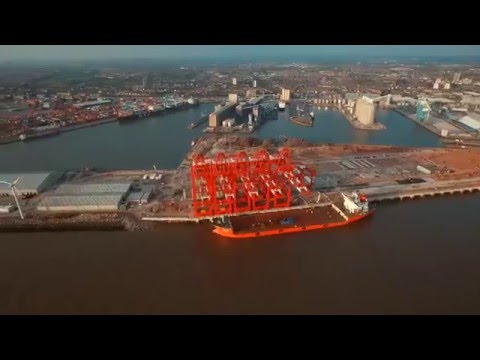 Peel Docks, Port of Liverpool Cranes, Made by Chinese Zhenhua Heavy Industries