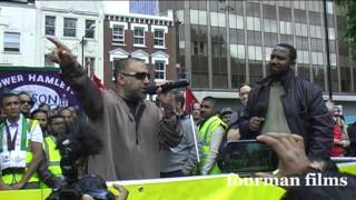 UK Apache & Ismael Lea South  - EDL Not Welcome in Tower Hamlets 07 09 13