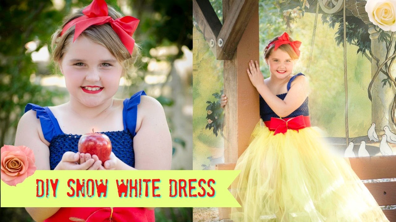sc 1 st  YouTube & DIY Snow White NO SEW Costume- Tutu Dress - YouTube