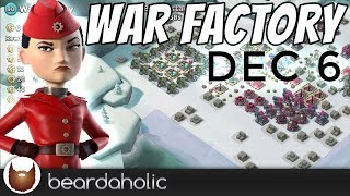 Boom Beach Gearheart War Factory Unboosted Gameplay the AFK way for Dec 6, 2018