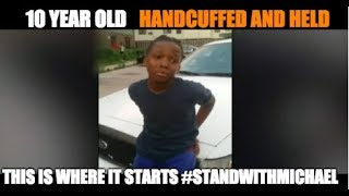 Viral Video Of Black Child In Handcuffs Is Why There Is NO Trust.