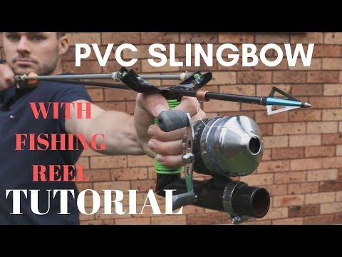 Make A 45lb SLINGBOW, SLINGSHOT FISHING For $10 FULL Tutorial From PVC TO SLING BOW