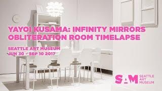 Yayoi Kusama: Obliteration Room at the Seattle Art Museum