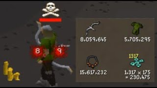 Skull tricking PVMers for MILLIONS using ring of coins