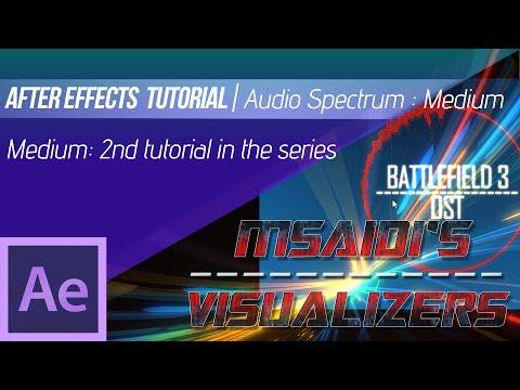 After Effects | Audio Spectrum Tutorial : Medium