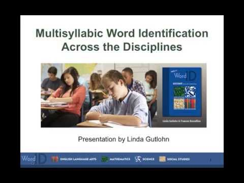 Multisyllabic Word Identification Across the Disciplines