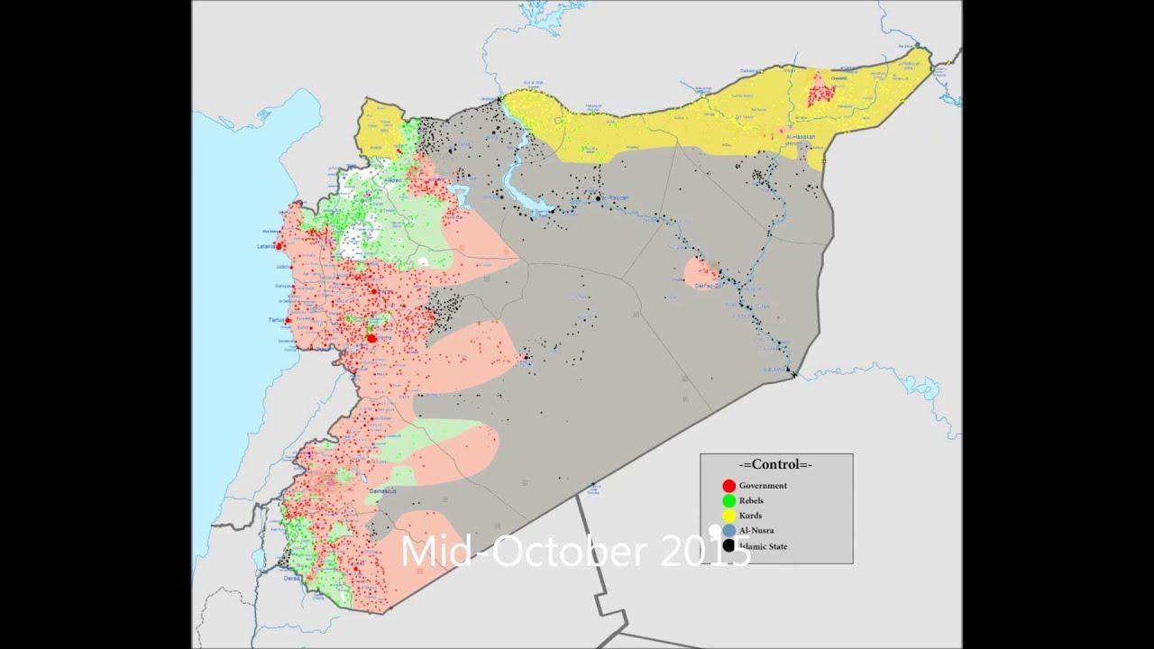 syrian civil war map timeline june 2015 february 2016