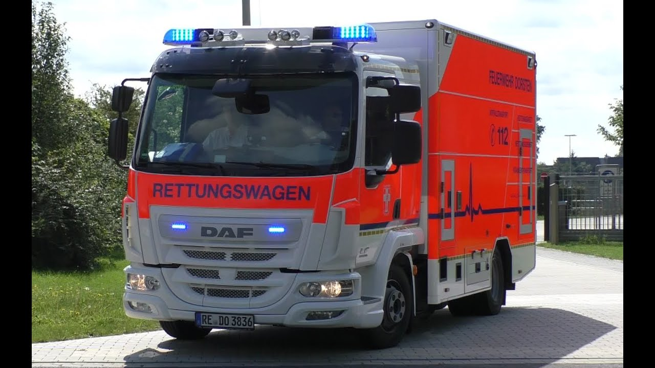 daf euro6 neuer 7 5 t rettungswagen der feuerwehr. Black Bedroom Furniture Sets. Home Design Ideas