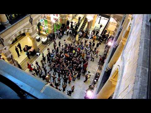 Dance flash mob Magna Plaza Amsterdam 15 January 2011