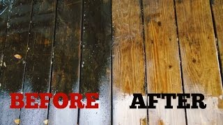 How To Clean A Wood Deck - The Easy Way