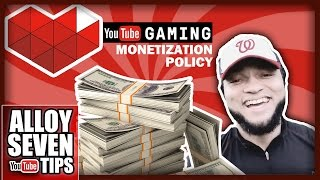"Youtube Gaming Monetization Policy Explained - ""What Can I Monetize On YouTube?"" - Answered"