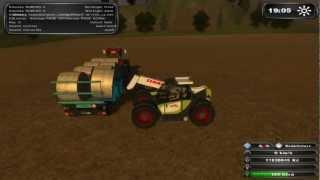 Landwirtschafts Simulator 2011 Odvoz balíků